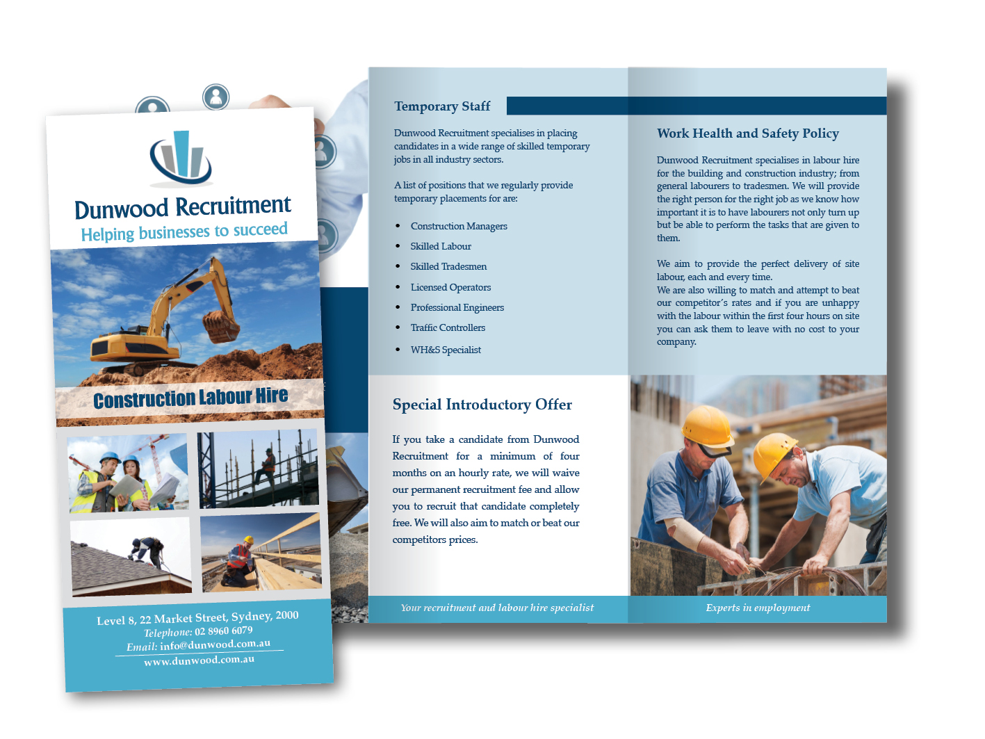 Dunwood Recruitment Trifold brochure