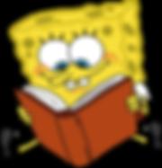 cartoon-characters-spongebob-reading-boo