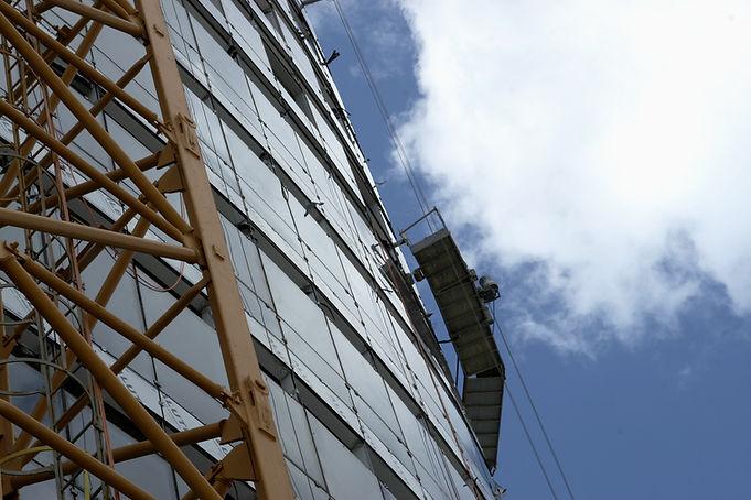 Sidan av byggnaden
