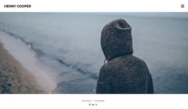Photography website templates – Photography Portfolio