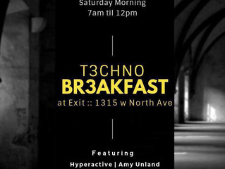Hypr playing T3CHNO BR3AKFAST tomorrow morning 7-12pm we cookin up the beats
