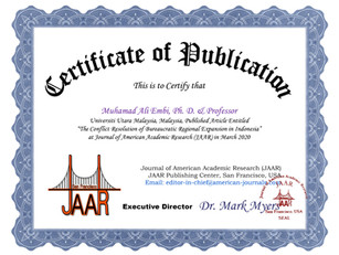 Certificate of Publication Muhamad Ali E