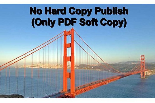 No Hard Copy Publish (PDF Soft Copy With Membership)
