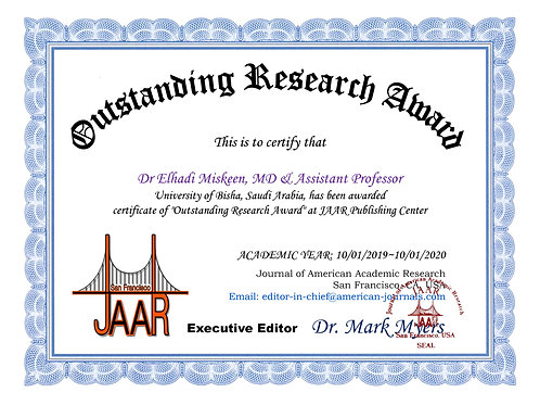 Outstanding Research Award