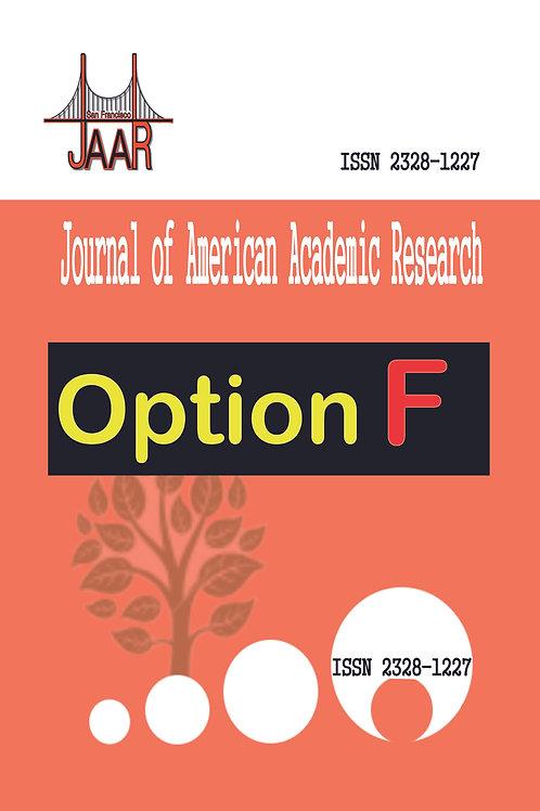 2021 Option F -- JAAR Journal Publishing