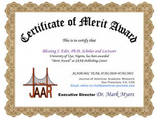 Bonus E-Certificate of Merit Award Bless