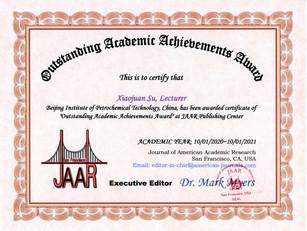 Outstanding Academic Achievements Award_