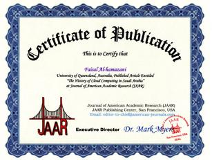 Certificate of Publication Faisal Hakim.