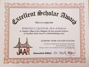 Doningo Sagnip Excellent Scholar Award M