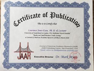Certificate of Publication Dr. Larry Jon