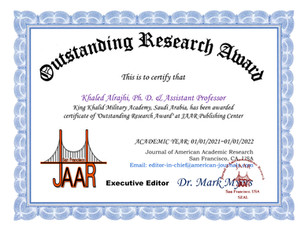 Outstanding Research Award_Khaled alrajh