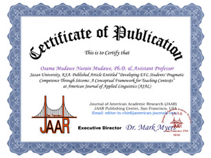Certificate of Publication Dr. Osama Mud