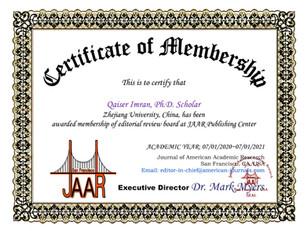 Qaiser Imran Grant Certificate of Member