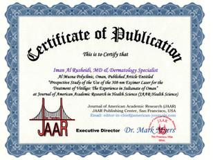 Certificate of Publication Iman Al Rushe