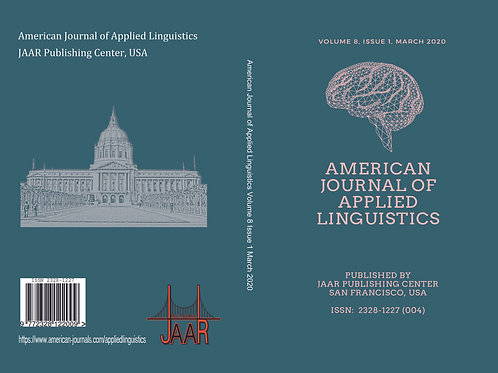 JAAR in Applied Linguistics Volume 1, Issue 1 December 2019