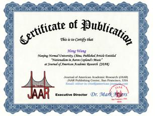 Certificate of Publication Heng Wang Jun