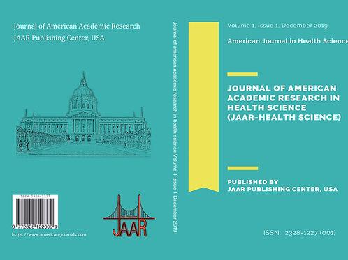 JAAR in Health Science Volume 1, Issue 1 December 2019