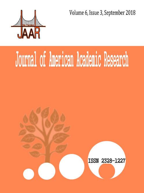 Volume 6, Issue 3, September 2018