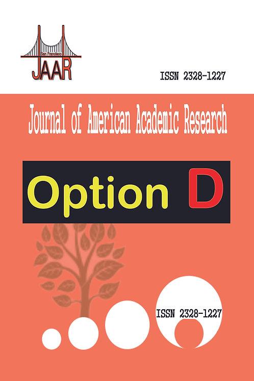 2021 Option D -- JAAR Journal Publishing