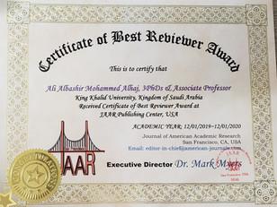 Ali alhaj Best Reviewer Award.jpg