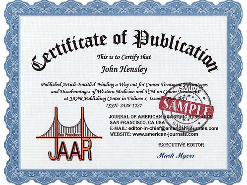 Certificate of Publication
