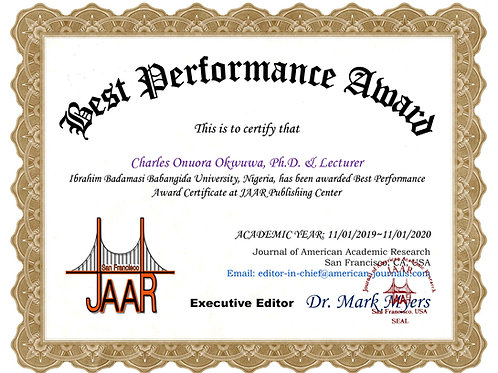 Best Performance Award