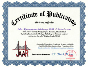 Certificate of Publication Isiorhovoja O