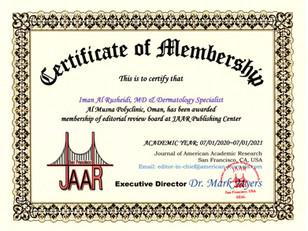 Certificate of Membership Iman Al Rushei
