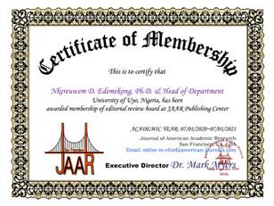 Membership Nkereuwem David Edemekong Edd