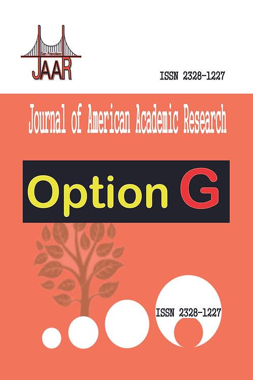 2021 Option G -- JAAR Journal Publishing