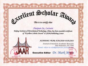 Excellent Scholar Award Professor Xiaoju
