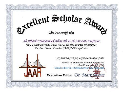 Excellent Scholar Award