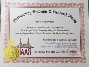 Rustom Mamlook Outstanding Academic & Re