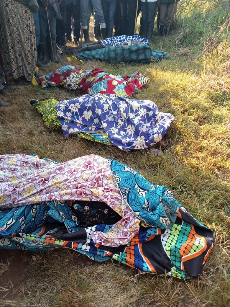 Cinq corps à enterrer aujourd'hui Nyirantabara   Nyiramuhoza Bibiane, Royi Mituzo , Nyirantonesha et Bitwenge