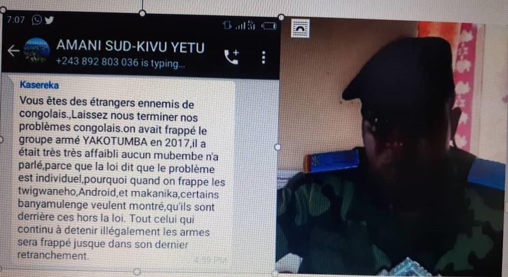 Le Capitaine Kasereka Dieudonné