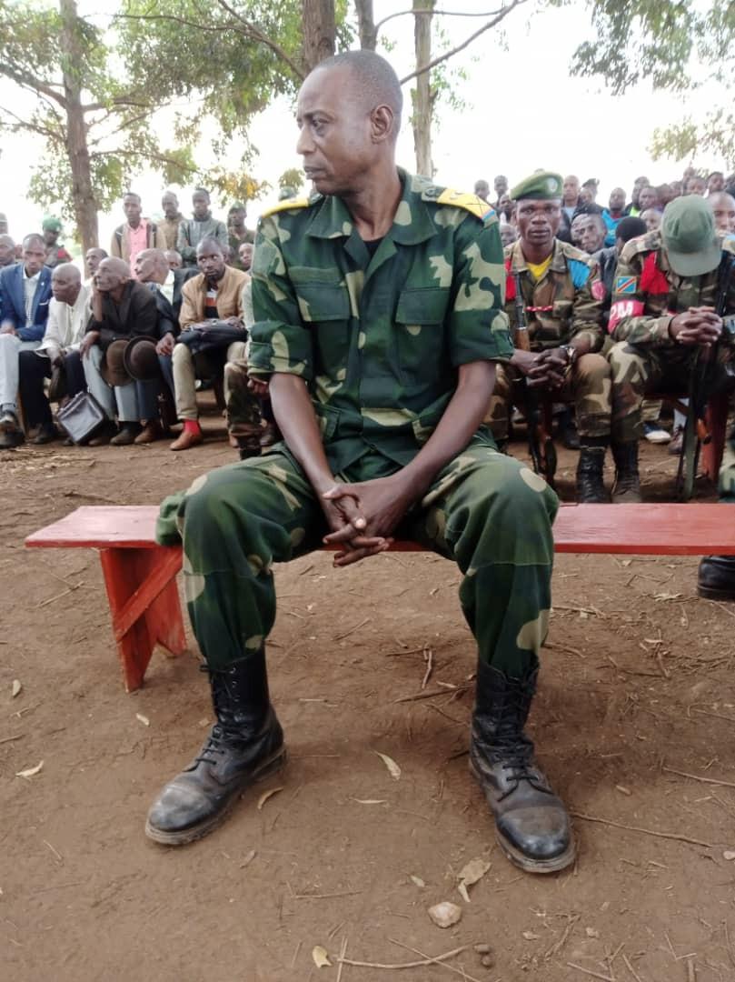 Le lieutenant-colonel MASUMBUKO MUHINDO Edmond