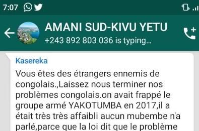Attention à la manipulation mesquine du Capitaine Dieudonné Kasereka
