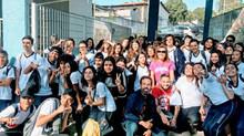 Alunos do Estância visitam a ETEC de Poá no Casa Aberta.