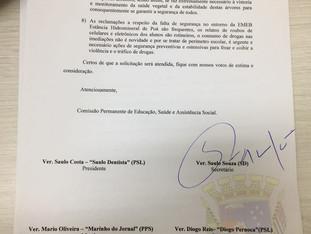 Comissão de Educação da Câmara Municipal de Poá emite ofício para a Secretaria de Educação cobrando