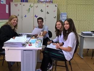 Grêmio se reúne com professor de Educação Física e Direção para pensar a aplicação de um interescola