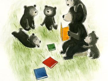 """""""Les livres, c'est bon pour les enfants. Pour rire, réfléchir, s'apaiser, s'émerveiller""""."""