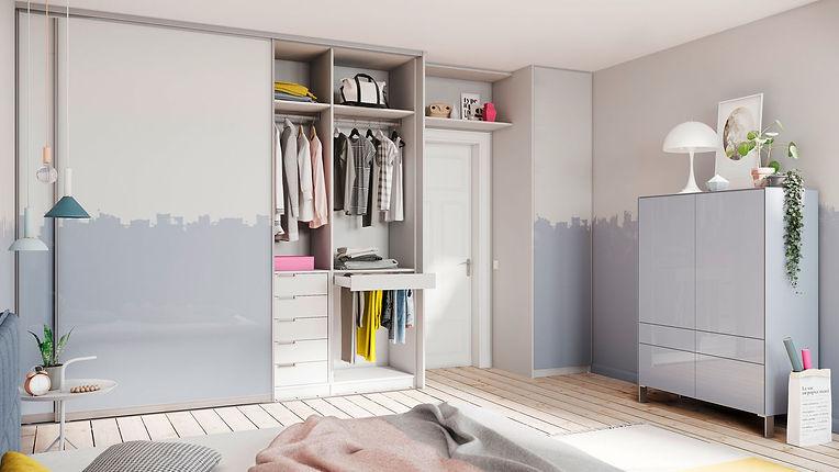 Beépített szekrény tolóajtóval