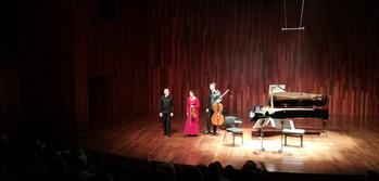 Con Sarah Bels y Jean Baptiste Texier (Trio Rec4)  L'Auditori de Barcelona