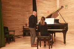 Clase con Kiev Portella en el Conservatorio de Menorca 2017
