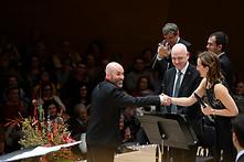 Con Salvador Brotons y la Banda Municipal de Barcelona en el Auditori de Barcelona © May Zircus