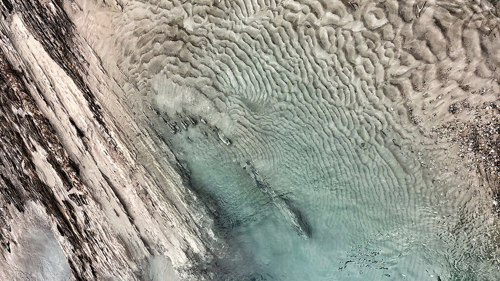 Turquoise River Abstract by Molly Cusick