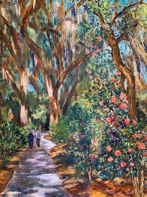 Judge Solomon's Camellia Garden, Isle of Hope by Mimi Diamond