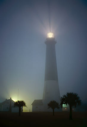 Tybee Island Lighthouse in Fog Joe Shiel