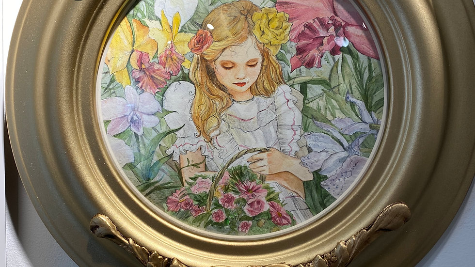 SOLD - Alice Among the Flowers