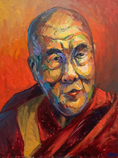 Portrait of The Dalai Lama